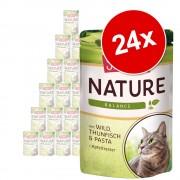 Икономична опаковка Schmusy Nature Balance паучове 24 x 100 г - говеждо, птиче, ориз и нар