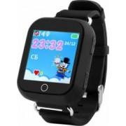 Smartwatch Wonlex pentru copii GW200S GPS SIM WiFi buton SOS monitorizare spion Negru Bonus Cartela Prepaid Vodafone Power