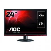 AOC G2260VWQ6 Monitor, 54,6 cm (21,5 inch), VGA, DVI, DisplayPort, 1920 x 1080, 75 Hz, 1 ms responstijd, zwart, zwart 24 inch