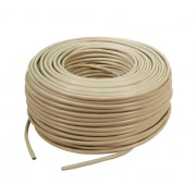 Cablu FTP cat. 5e, 4x2 AWG 26/7, din PVC, solid, lungime rola: 305m, retail, Bej, LOGILINK (CPV0016)