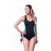 Shepa Dámské sportovní plavky Shepa 006 (B1D19) L černo-zelená