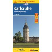 Fietskaart ADFC Regionalkarte Karlsruhe und Umgebung | BVA