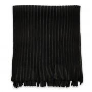 Eșarfă bărbătească în culoarea negru-grafit, cu dungi 9966