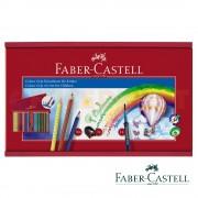 Creioane colorate si pensula 36 culori/set FABER-CASTELL cutie lemn Grip 2001, FC112438