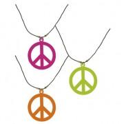 Geen Hippie sieraad peace ketting