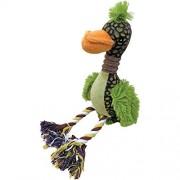 """Scoochie Pet Products Plush Fuzz Bird Dog Toy 12""""-"""
