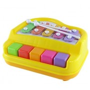 Baoli Xylophone + Piano Musical Toy with 2 Mallets for Children Kids Toddlers - 1503 (Multi Color)