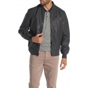MICHAEL Michael Kors Perforated Faux Leather Bomber Jacket ASH