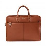 Rizzo Paul Wide briefcase, portfölj i skinn, Cognac