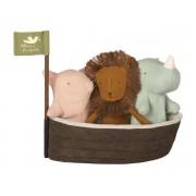Maileg Noah`s ark with 3 mini animals - taille 22 cm - de 0 à 36 mois
