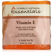 Clearly Natural Bar Soap- Vitamin E 4 Ounces (3 Bar Pack)