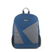 Protecta Road Warrior Laptop Backpack for Laptops with Screen Size up to 15.6 inches (Navy Blue & Grey)