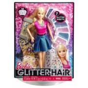 Papusa Barbie si accesorii par cu glitter CLG18