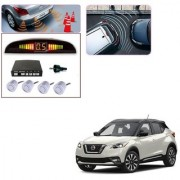 Auto Addict Car Silver Reverse Parking Sensor With LED Display For Nissan Kicks