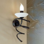 Mauro wall light with Scavo glass and one bulb