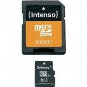 Card memorie Intenso Micro SDHC 8GB Clasa 4 + Adaptor SD