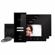 Kit videointerfon Electra Touch Line Extra VKE.P3SR.T7S9.ELB04, 3 familii, aparent, 7 inch
