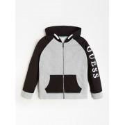 Guess Sweatshirt Capuchon Logo Color Block - licht grijs - Size: 12