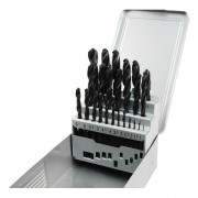 Extol Premium fémcsigafúró klt, HSS, DIN 338, fém dobozban;1,0-13,0mm,25 db 8801192