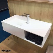 Ambra Vasque 80 cm suspendue en solid surface -Ibiza