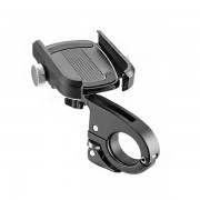 ROCKBROS Aluminum Alloy Phone Holder for 3.5'-6.2' Cell Phones Bicycle Adjustable Phone Clip Stand Shockproof Fixed Phone Bracket