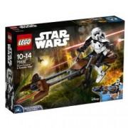 LEGO R Constraction Star Wars Scout Trooper si Speeder Bike 75532
