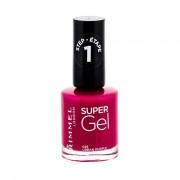 Rimmel London Super Gel STEP1 smalto gel per unghie 12 ml tonalità 025 Urban Purple donna