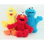 Sesame Street Classic Plush - 3 Pcs Set - Includes Elmo, Big Bird, and Cookie Monster
