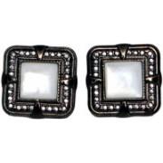 Blacksmithh Metal Cufflink(White)