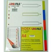 Uni-File A4 File Divider Plastic Tab1-5, Retail