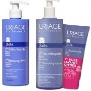Uriage Bebe Pack Creme Lavante 1l+ 1ª agua de limpeza 1l com oferta oleo lavante 200 ml