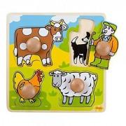 Bigjigs Toys BJ520 My First Peg Puzzle Farm