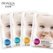 BIOAQUA 30g Pink Moisturizing Baby Skin Mask Face Mask Whitening Wrapped Mask Oil Control Facial Masks Smooth Baby Skin