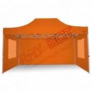 ray bot Gazebo pieghevole 3x4,5 arancione professionale con finestre PVC 350g