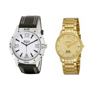 Mark rigal white dail black strap watch+Hwt mens quartz watches combo