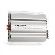 Auna C300.4, 4-канален усилвател мощен автоусилвател, 1200 W PMPO, 300 W RMS, сребрист (W2-C300.4)