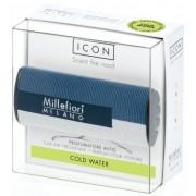 ODORIZANT AUTO Millefiori Milano-Cold Water (aroma fresh, masculina)- colectia Geometric