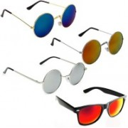 Vitoria Round, Wayfarer Sunglasses(Multicolor)