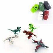 5PCS/Set Dinosaur Egg Velociraptor Blocks Toys Kids Gift Collection With Packing