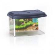 COBBYS PET Akvárium műanyag 1 tetővel és háttérrel 22x16x14cm 3l