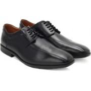 Clarks Glenrise Over Black Leather Lace Up For Men(Black)