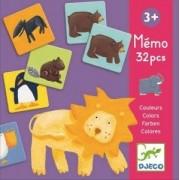 Gra pamięciowa MEMO KOLOROWE ZWIERZĄTKA DJECO DJ08110