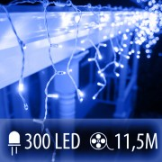 LED SVETELNÁ ZÁCLONA 300LED 11.5M MODRÁ