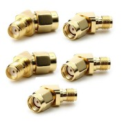 5 PCS 45/135 Degree RP-SMA Male to SMA Female Antenna Adpater Connector For FPV Goggles Transmitter RC Drone