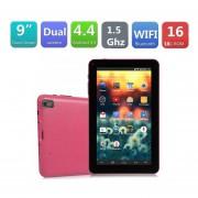"9 ""pulgadas De Google Android4.4 A33 Quad Core Slide Pad Dual Camera Tablet PC Au Rojo"