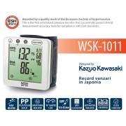 "NISSEI Japan WSK-1011 - Tensiometru automat de incheietura, validat clinic, operare ""touch"", indicator aritmie, fabricat in Japonia"