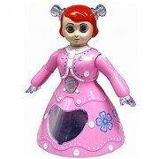 Musical Dancing and Rotating Princess Doll Toy with 3D Flashing Lights with Music Gift Toy for Kids Lights Pink