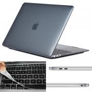Apple MacBook Air 2018 A1932 3 in 1 Kristal patroon beschermende Hardshell ENKAY Hat-Prince behuizing met ultra-dun TPU toetsenbord Cover (USA versie) en afsluitende poort pluggen (zwart)