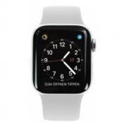 Apple Watch Series 4 Edelstahlgehäuse silber 44mm mit Sportarmband wei√ü (GPS + Cellular) edelstahl silber refurbished