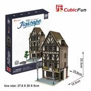 CubicFun Colectia Jigscape Restaurant din epoca Tudorilor Puzzle 3D 44 de piese